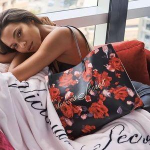Victoria Secret Black Friday Tote Bag Purse roses